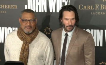 Laurence Fishburne and Keanu Reeves