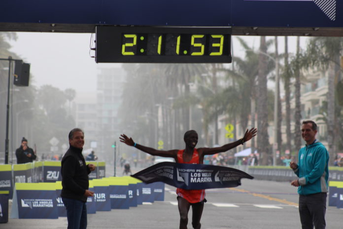 Elisha Barno - Winner of the 2017 LA Marathon Men's Division