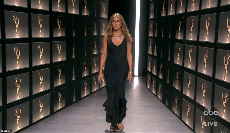 Wow factor: Jennifer Aniston presented the first gong of the night