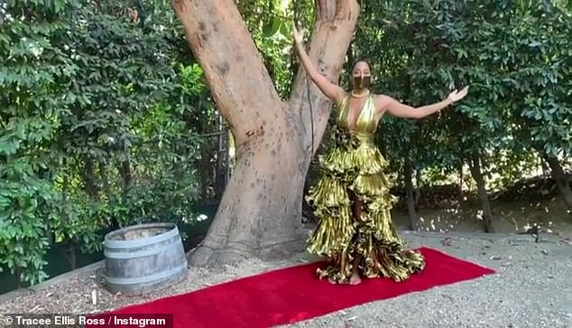 Problem solved: The Black-ish star rolled out her own red carpet