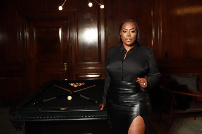 Ebony Swank standing